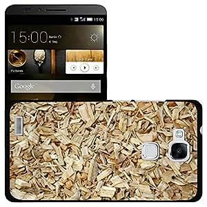 Print Motif Coque de protection Case Cover // M00156131 Fondo de madera del Schnitzel // Huawei Ascend Mate 7