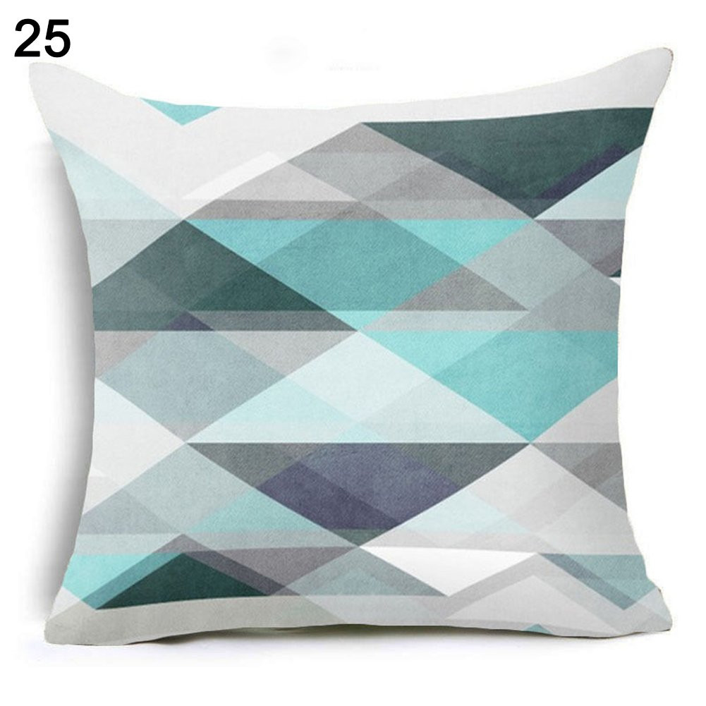 Everyday Home Sofa Letter Flower Geometric Pattern Throw Pillow Case Cushion Cover Decor size 25 Nordic Combination