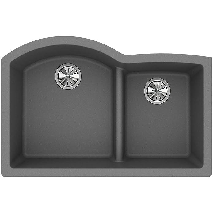 Elkay Quartz Class 33 x 22 Double Basin Undermount Kitchen Sink