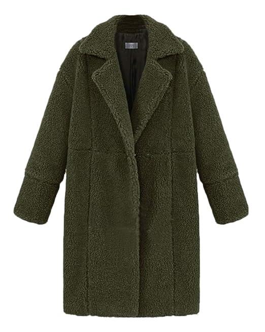 Damen Jacke Lange Mantel Trenchcoat Leichter Einfarbig Ärmel Nnm8w0