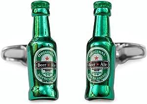 SoloGemelos - Gemelos Botellin Cerveza - Verde - Hombres - Talla Unica: SoloGemelos: Amazon.es: Joyería
