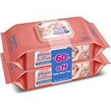 Johnson's Baby Skincare Wipes, 2 * 80 cloth wipes (Pack of 2, Rs. 60 off)
