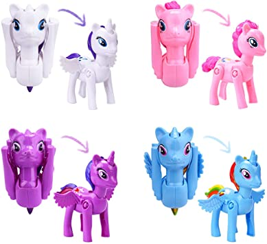 Jofan 48pcs Unicorn Hatch Eggs Easter Eggs with Unicorn Toy Inside for Kids Boys Girls Easter Basket Stuffers Gifts Fillers Party Favors Supplies