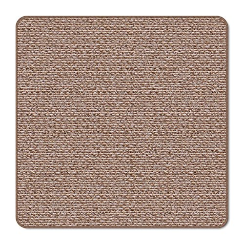 House, Home and More Skid-resistant Carpet Indoor Area Rug Floor Mat - Praline Brown - 3' X 3' - Many Other Sizes to Choose (Carpet Entry Mat)
