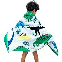 Toalla de baño con capucha para niños, 100% algodón, súper suave, bonita toalla de playa para niños, de secado rápido…