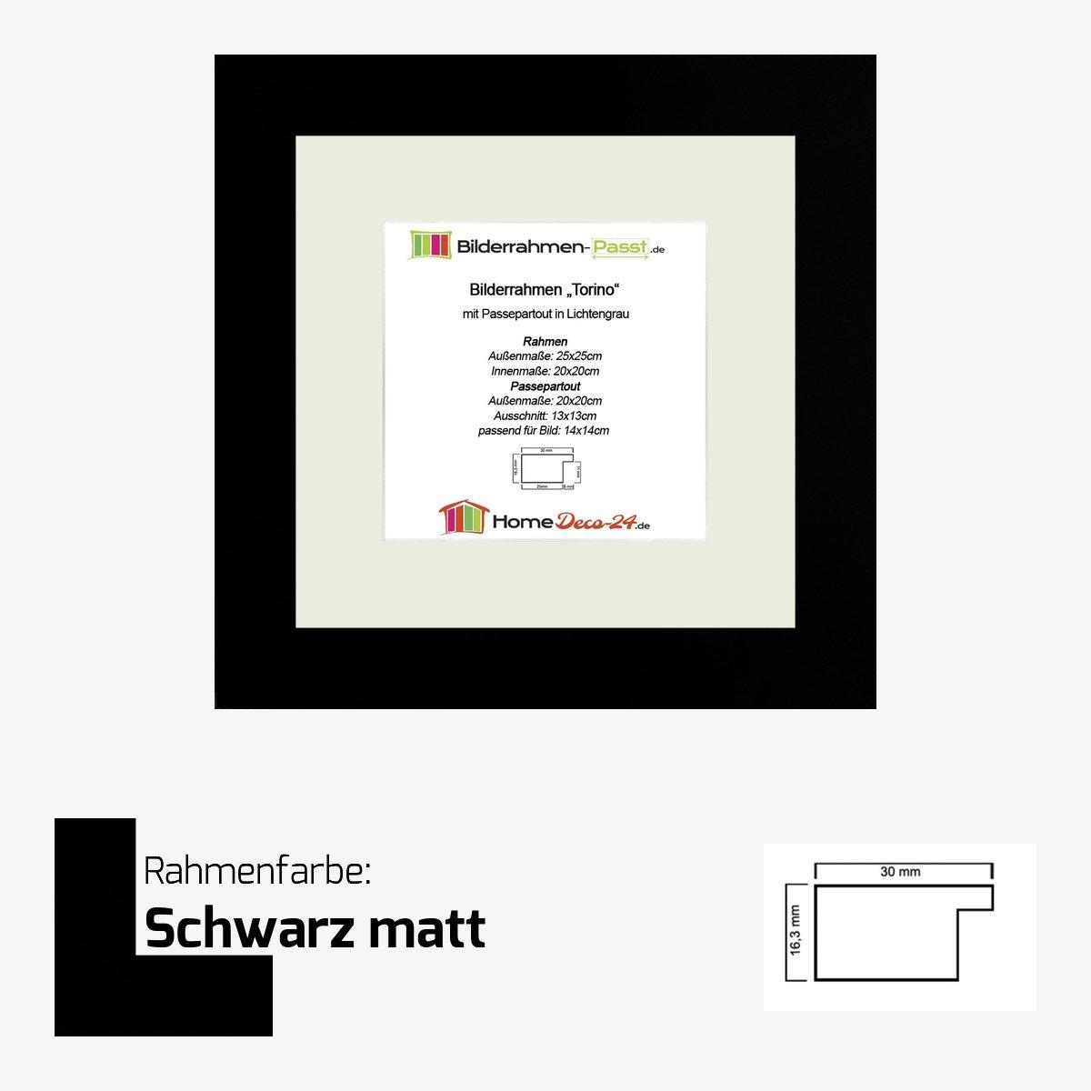 Amazon.de: MDF-Bilderrahmen Torino 20 x 20 cm hier Marone Bicolor ...