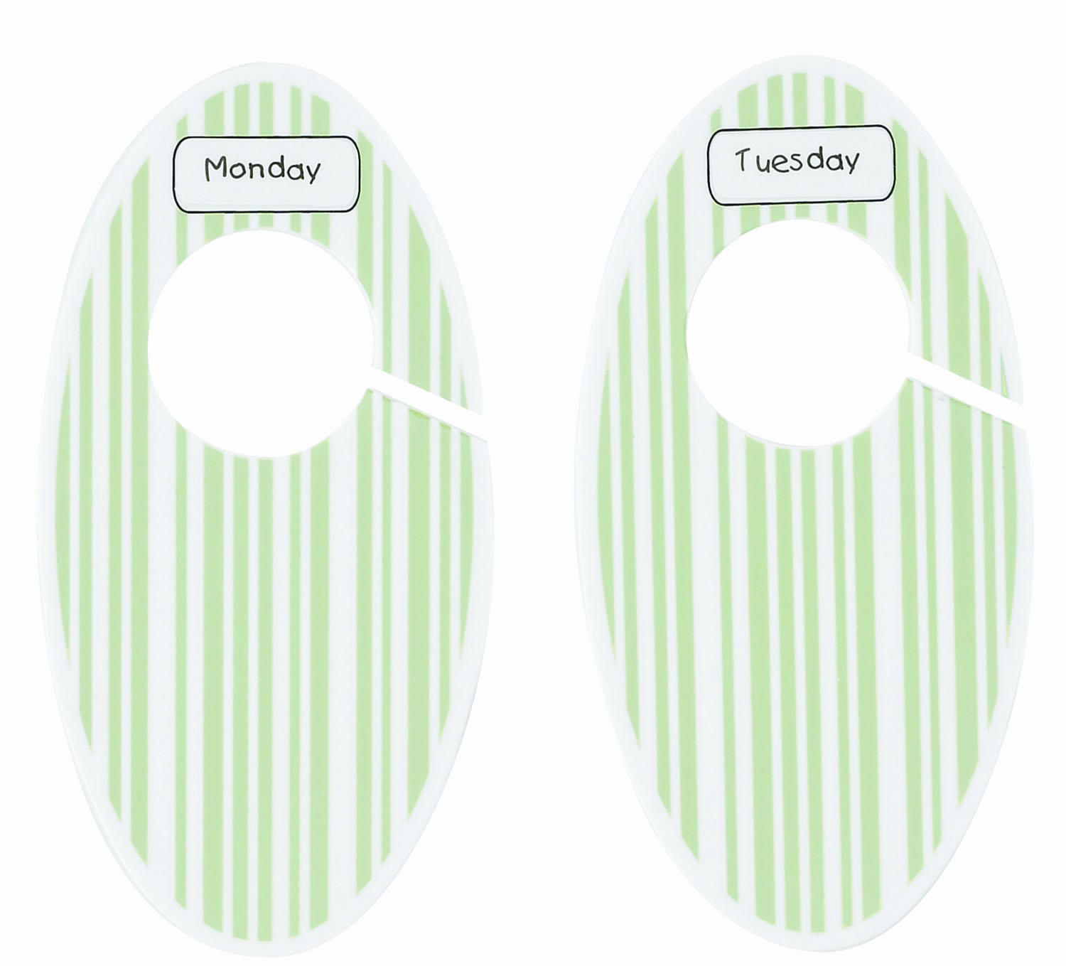 SugarBooger by Ore' Closet Divider Set, Green Stripe SugarBooger by Ore' A451 39331