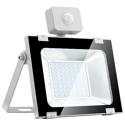 Proyector LED ultrafino de 50 W con sensor de movimiento al aire ...