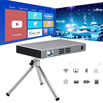 Mini DLP HD Inteligente Proyector Portátil Proyector con ...