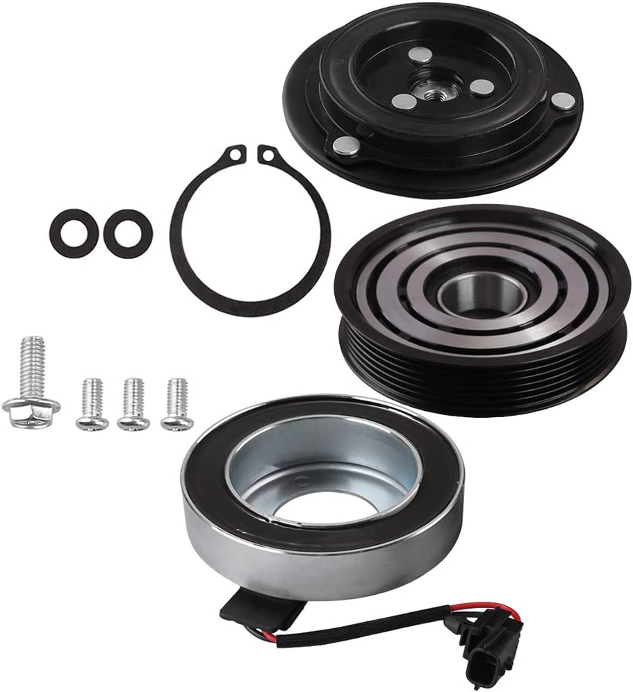 AC Compressor Clutch Assy for Nissan Rogue 2008-2013 L4 2.5L Repair Kit Plate Pulley Bearing Coil