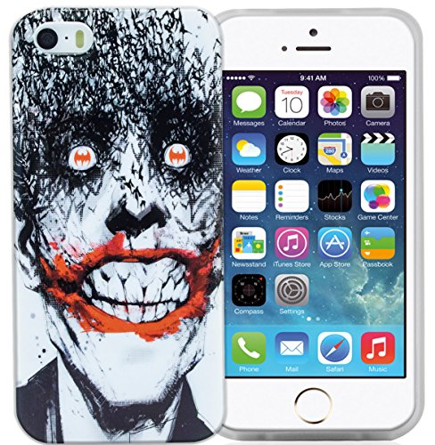 Phonix DC Comics original Joker Case mit Displayschutzfolie für Apple iPhone 5/5S