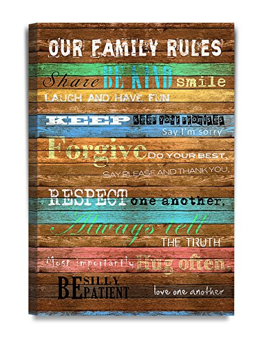 DecorArts - Our Family Rules, Inspirational Quotes Wall Art.