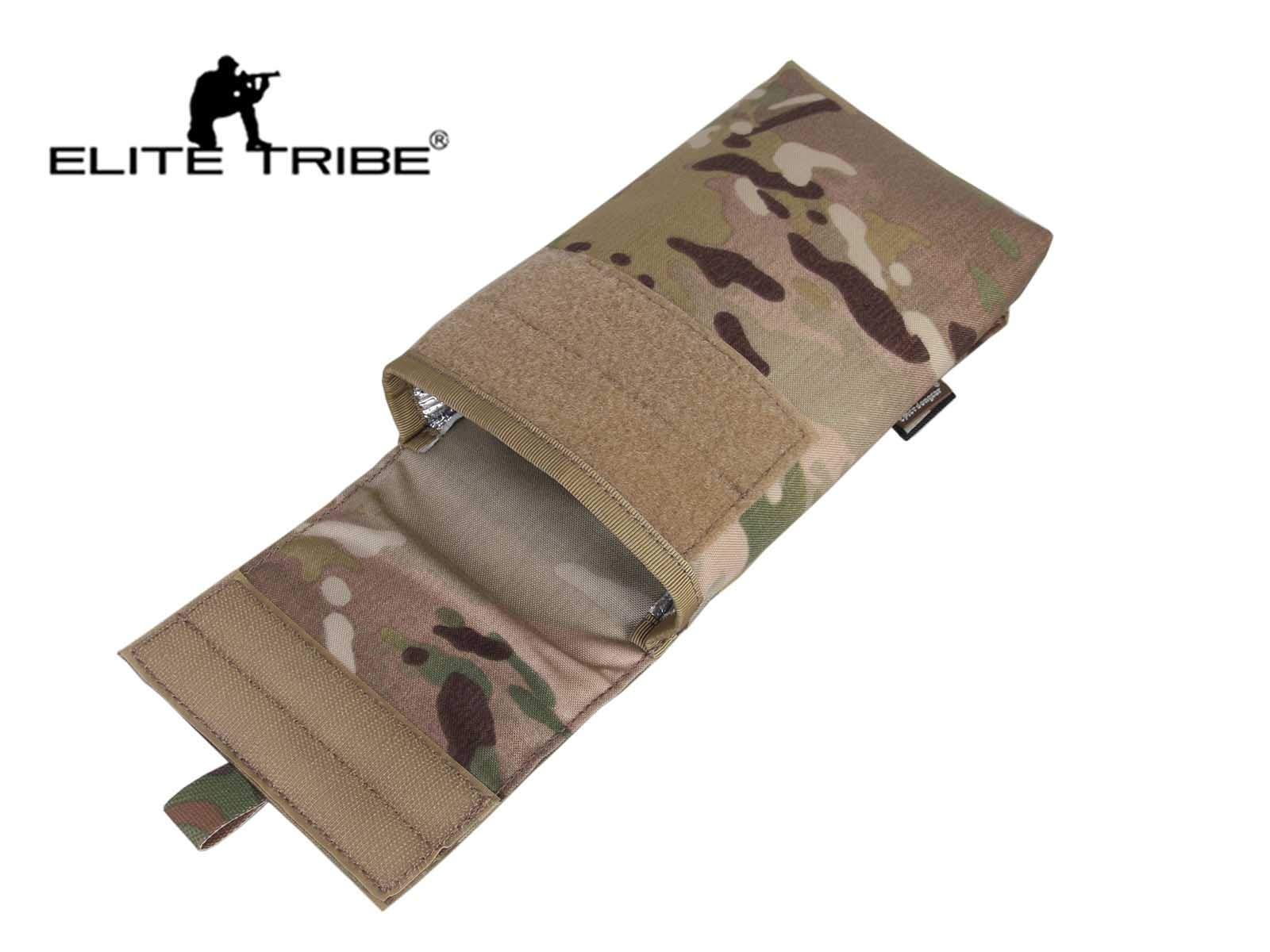 Elite Tribe Molle Pouch Hydration Pack Water Bag Cordura Tactical Pouch Army 27OZ Multicam