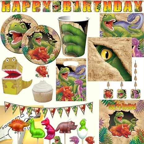 Dino Dinosaurier Servietten Dinoparty Papierservietten 25x25cm 16 Stück