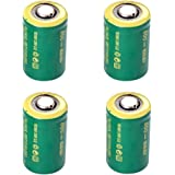 IORMAN 4-Pack Universal 3V 800mAh CR2 Rechargeable Lithium Batteries for Photo Camera Laser Flashlight