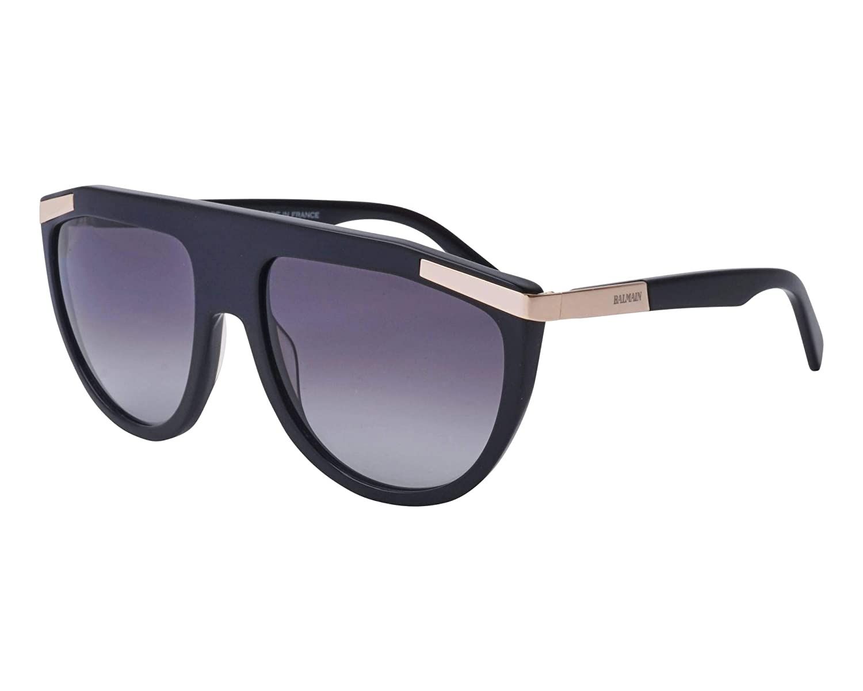 eef1d44e93 Amazon.com  Balmain sunglasses (BL-2114 01) Shiny Black - Gold - Grey  Gradient lenses  Clothing