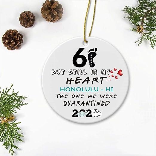 Honolulu 2020 Christmas Amazon.com: 2020 Christmas Ornament Quarantine   6 Feet Apart But