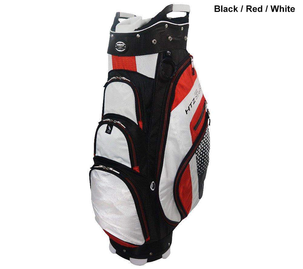 hot-zゴルフ5.5カートバッグ B010OXOOHW ブラック/レッド/ホワイト