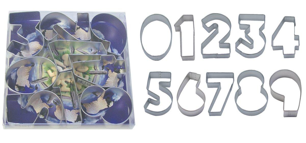 9-Piece Set R/&M Industries R/&M International 1955-01 Numbers 3 Cookie Cutters
