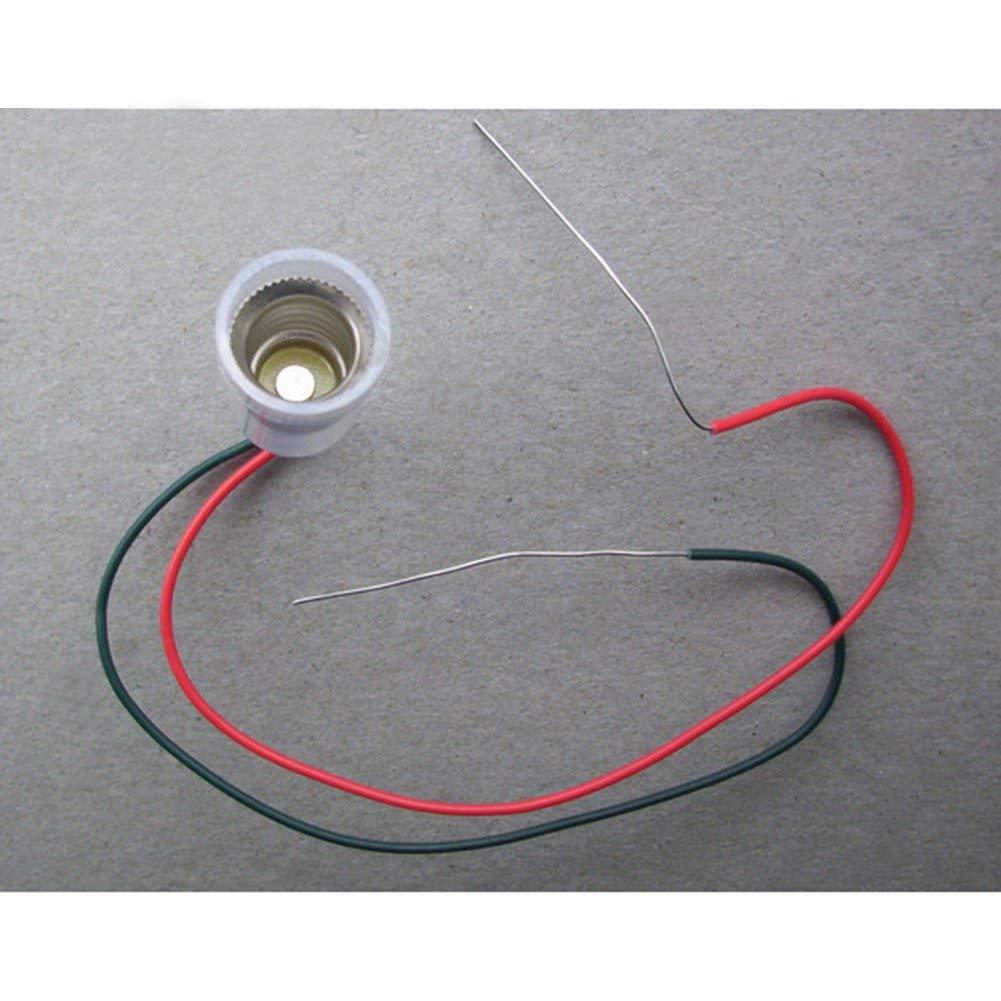 GutReise 10PCS E10 Lampes Base E10 LED Montage /à Visser Petites Ampoules Titulaire E10 Lumi/ère Base Douille avec Douille de Fil pour Circuit dExp/érimentation Home Test /Électrique Accessoires
