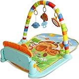 Tapetinho com Mobile Pianinho Musical Melodia Azul Baby Style