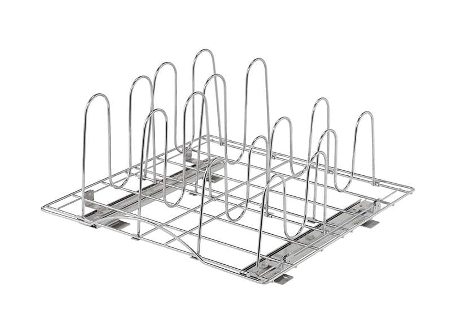 Trinity TBFC-2208 Sliding Pot Organizer, Chrome