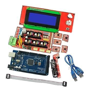 FLAMEER Junta Controlador 1.4 Tablero de Control para Impresora 3D ...