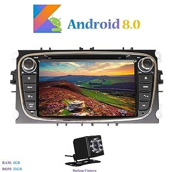 """Android 8.0 Autoradio, Hi-azul 2 DIN 7"""" Radio de Coche Navegación GPS"""