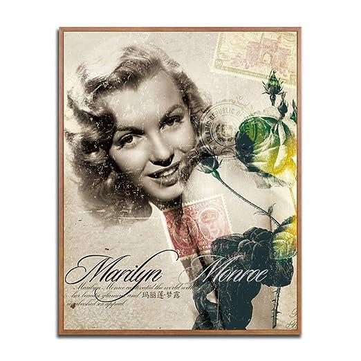 Tzxdbh Bergman Poster Vintage Wall Art Retro Mujeres Flores