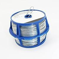 COM-FOUR® 100 meter binddraad in zilver, 2 rollen met elk 50 meter gegalvaniseerde draad (02x 50m gegalvaniseerd)