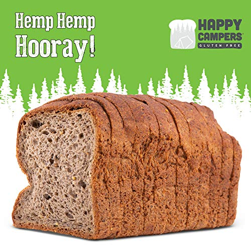 Happy Campers Hemp Hemp Hooray Gluten Free Bread, Multi-Grain, Non-GMO, Vegan, Organic, 17 ounces Loaf (Pack of two)