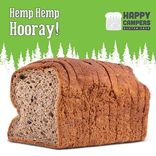 Happy Campers Hemp Hemp Hooray Gluten Free Bread, Multi-Grain, Non-GMO, Vegan, Organic, 17 ounces Loaf (Pack of two)