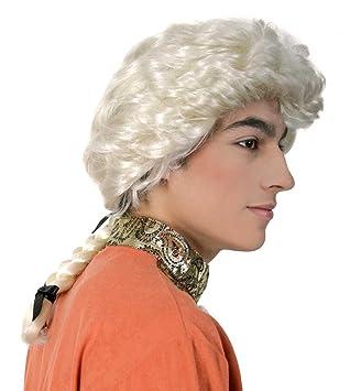 buynget 35064 Amadeus - Peluca de cabello largo y rubio para caballero