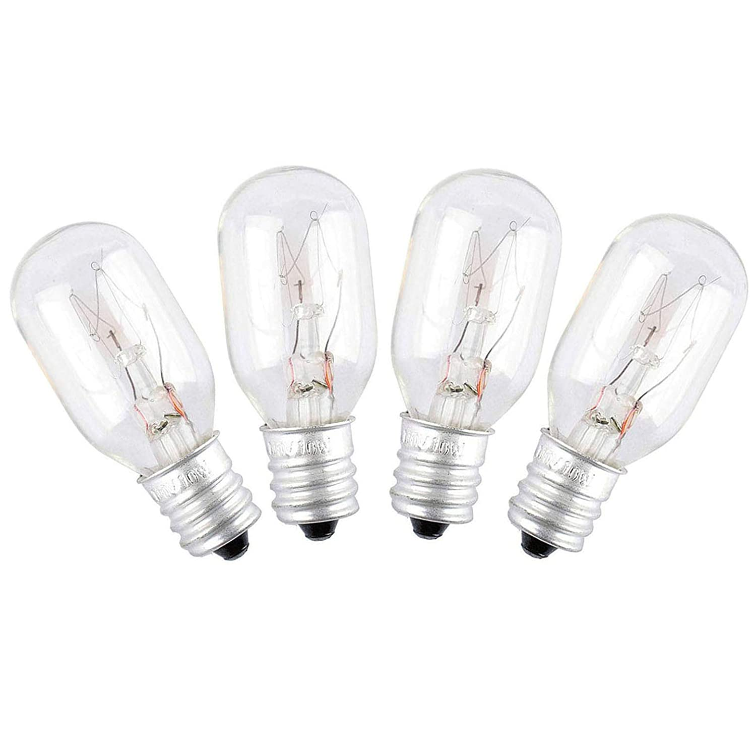 WE4M305 Dryer Light Bulb for GE/General Electric 120v 10watt Appliance Bulb (4 pack)