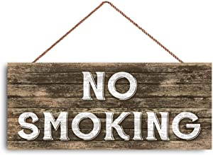 No Smoking Zone for Cafe Store Boutique Custom Wood Signs Design Hanging Gift Decor for Home Coffee House Bar 5 x 10 Inch