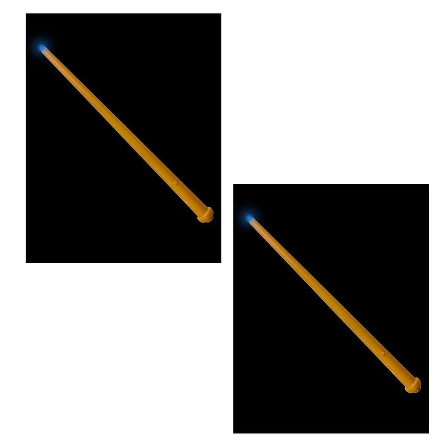 2 Pack Wizard Magician Costume Magic Light and Sound Toy Wand Rhode Island Novelty