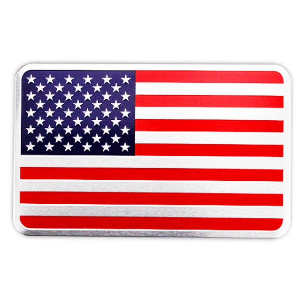 AzuNaisi Imá n de la Bandera Americana Etiqueta del Coche de la Etiqueta engomada Americana EE.UU. Pesado de Freno Coche