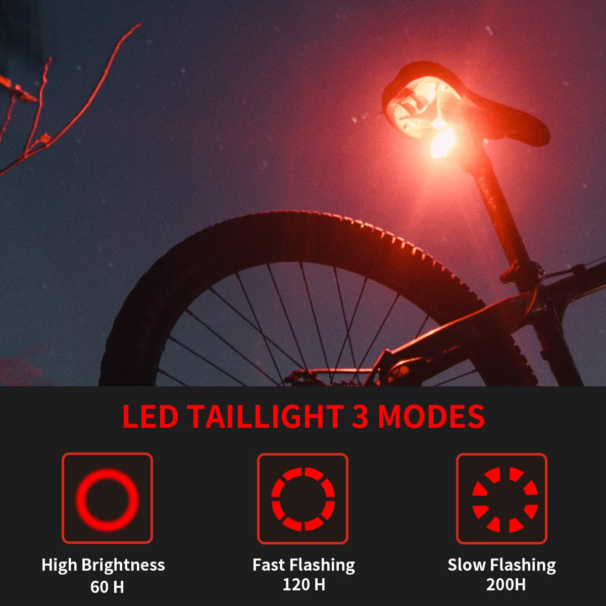 Bicycle Headlight morpilot bike flashlight Rechargeable 700 Lumen Zoom IN/out Bike headlight and Taillight Easy Install & Quick Release Includes Batteries and Charger - 360°swivel bicycle light