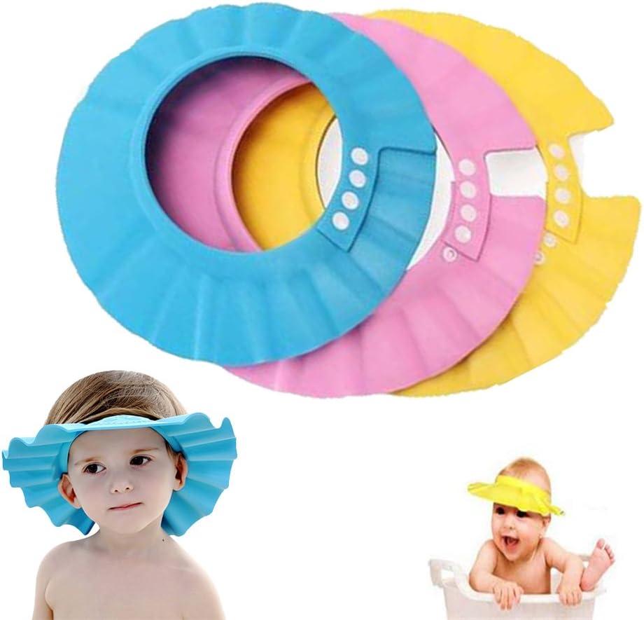 Gorra de ducha para bebé, Shineus ajustable e impermeable, gorra ...