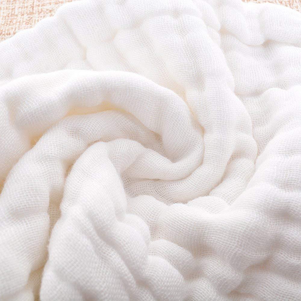 Wei/ß 48/x 17/cm von Busy Mom 6/Pack Baumwolle 10/Ebene Spucktuch Vorgefaltete Windeln Windeln
