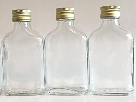 Bottle glass 20cl and leather