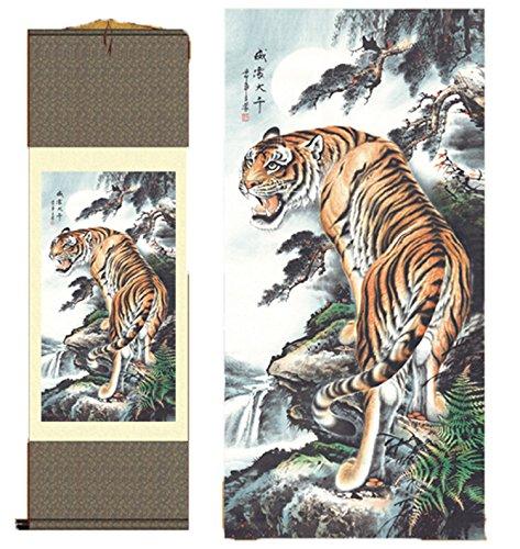 Grace Art Asian Wall Scroll, Tiger
