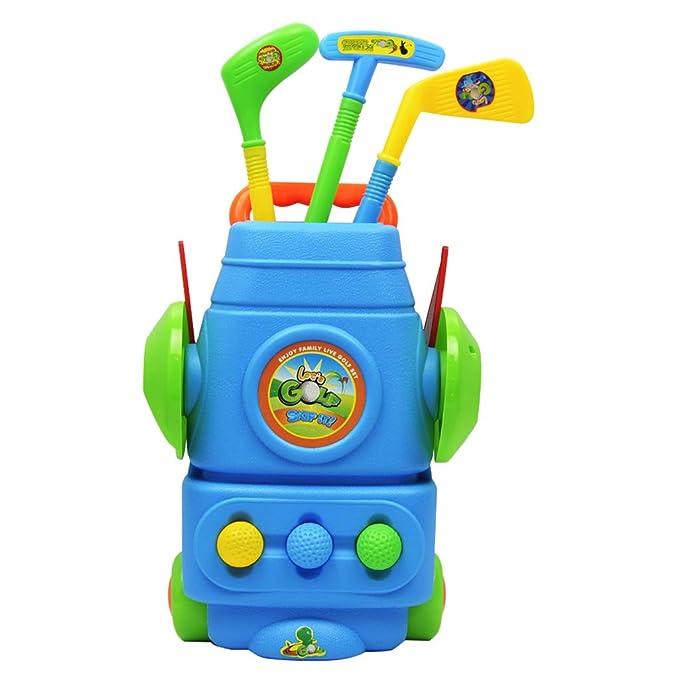 Homyl 9pcs Juego Infantil de Mini Golf con Carrito de 2 ...
