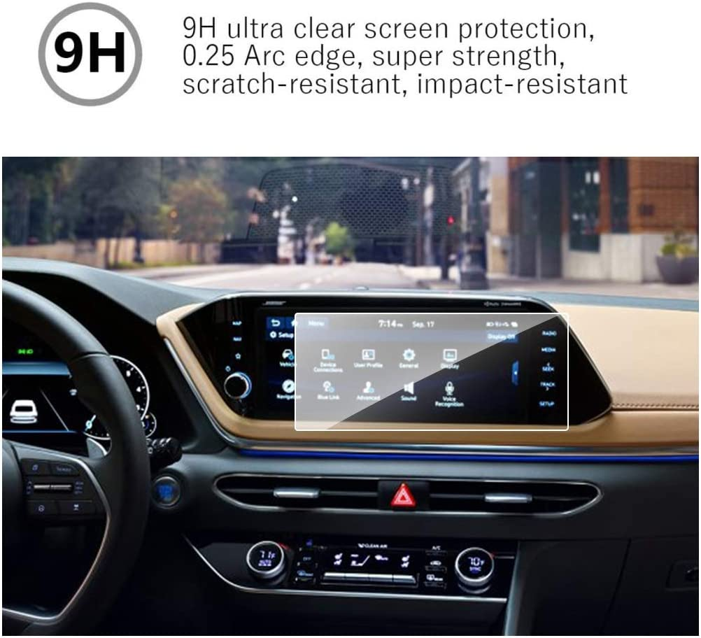 MBSIX Tempered Glass Screen Protector Compatible with 2020 Sonata 8 Inch Touch Screen,HD Clear,Scratch-Resistant,Anti Glare,Protecting Hyundai 8 Inch Screen 8inch