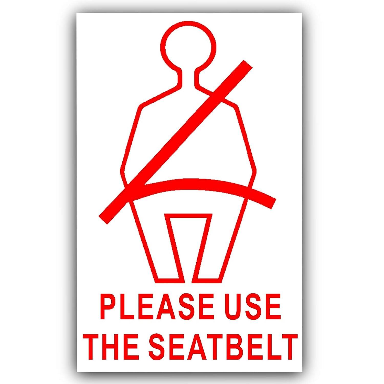 Taxi Cami/ón Cami/ón 6/x External Cintur/ón Seguridad stickers-red en White-Please Wear Su Asiento Cintur/ón warning-car Furgoneta entrenador Hackney Mini Cab Sign