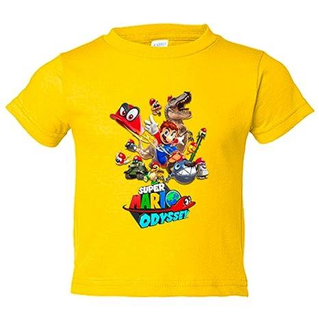 Camiseta niño Super Mario Odyssey - Amarillo, 3-4 años