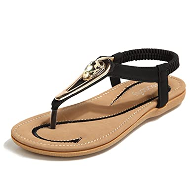 98e330edfcb6 socofy Bohemian Sandals