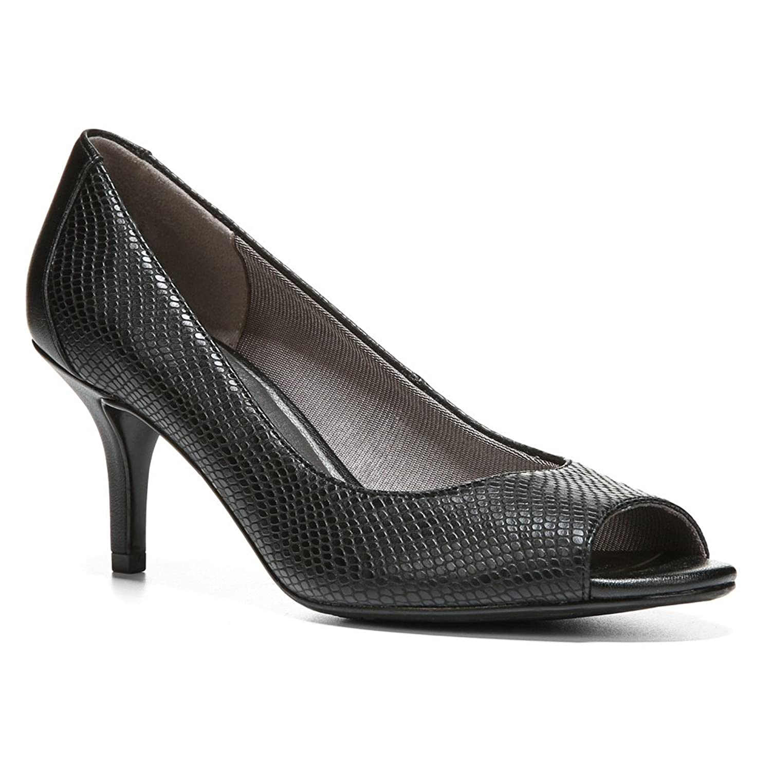 Women's Lifestride, Nightly Peep Toe Pumps BLACK SNAKE PRINT 5 M:  Amazon.ca: Shoes & Handbags
