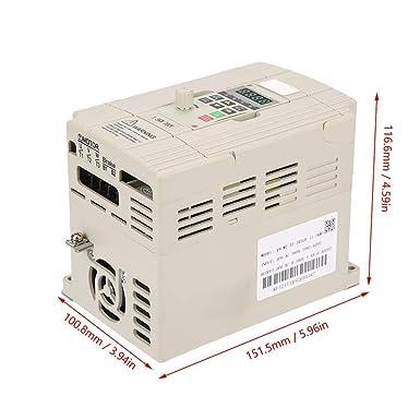 Variador de frecuencia variable VFD 1.5kW 2HP Inversor VFD ...
