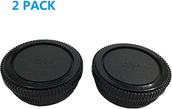 Rear Lens Body Cap Cover Camera Protection Mount Plastic Black for Olympus OM